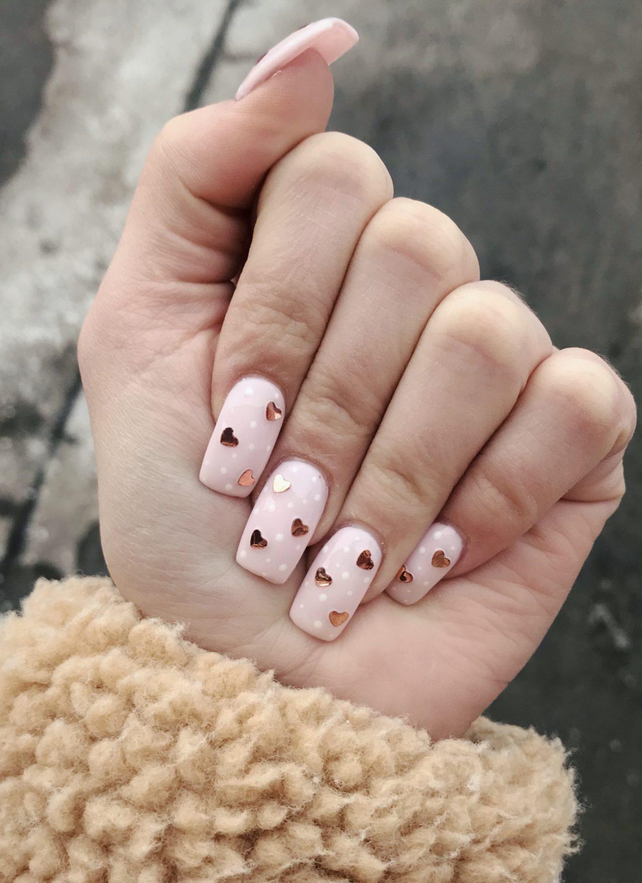 i heart my valentine's nails