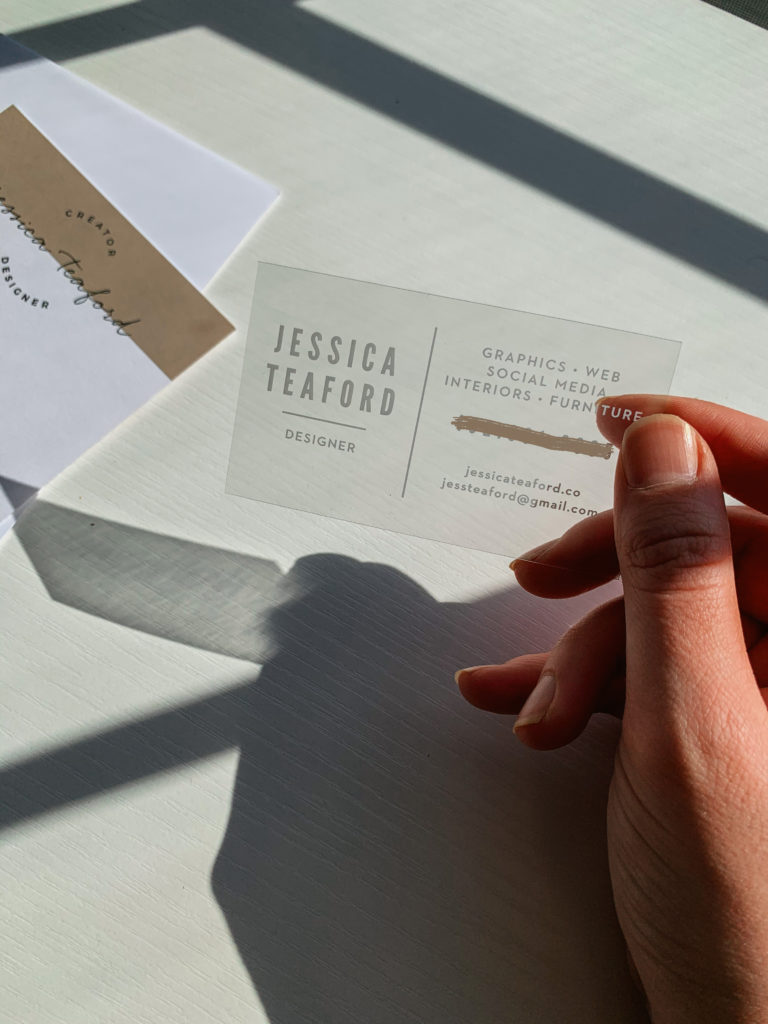 clear vinyl business cards for jessica teaford from Basic Invite